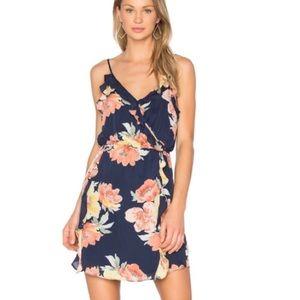 Joie Foxglove Floral Navy Dress Ruffle Spring